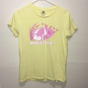 Mossy Oak yellow t-shirt size medium